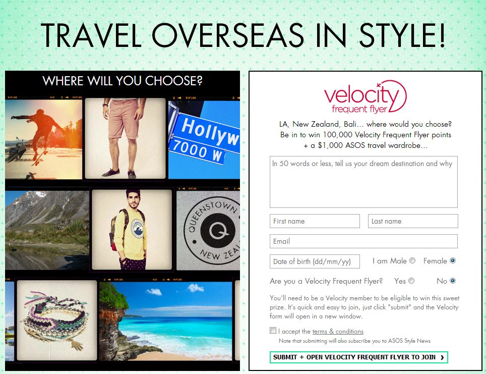 ASOS Travel Overseas in Style Caption