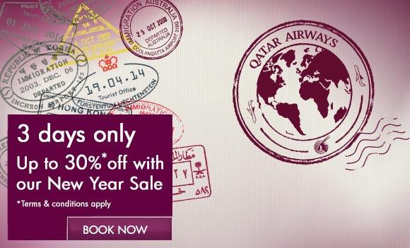 Qatar Airways new year sale